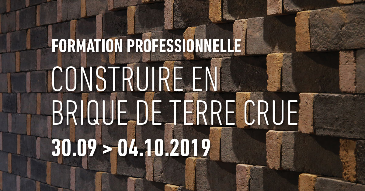 Formation professionnelle Construire en brique de terre                     crue du 30 septembre au 4 octobre 2019 par amàco