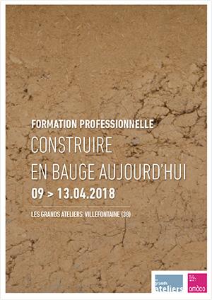 Formation professionnelle - Contruire en bauge aujourd'hui                         : téléchargez le programme détaillé
